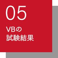 VBの試験結果